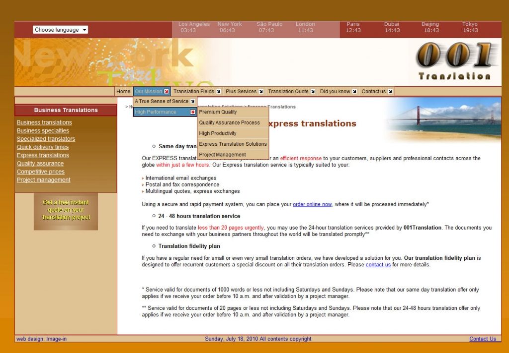 001 Translation web design