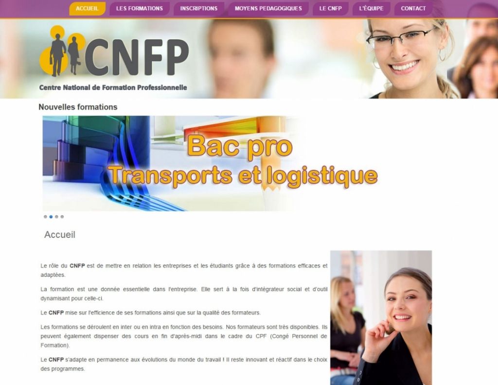 CNFP web desisign