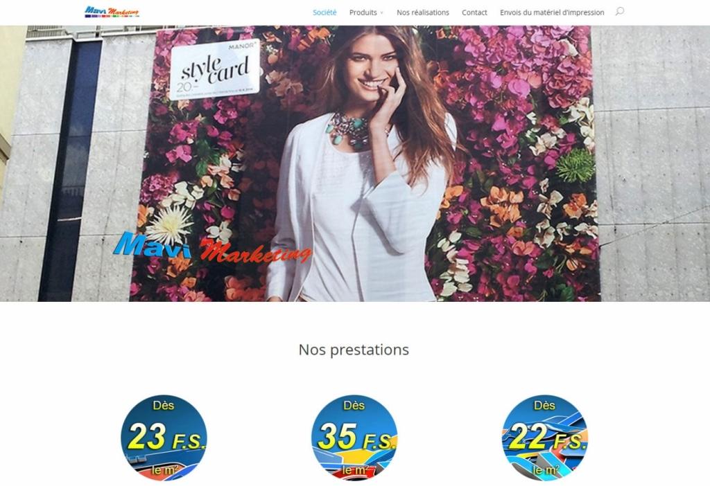 Mavi Marketing web design