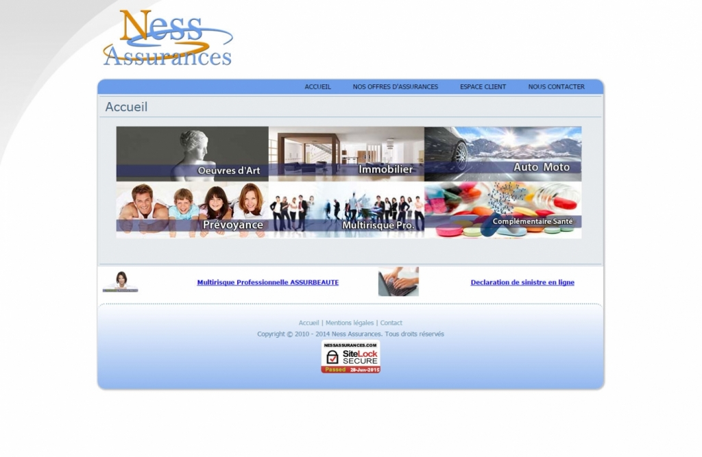 Ness assurances Web design