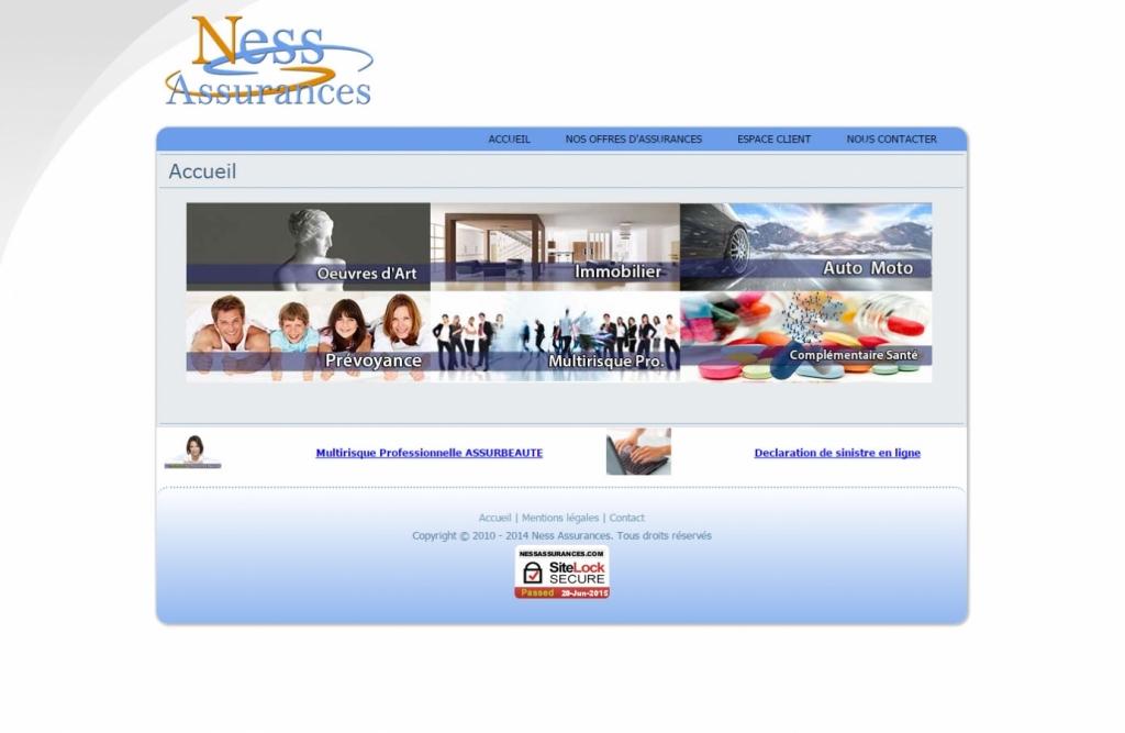 Ness assurances Web design