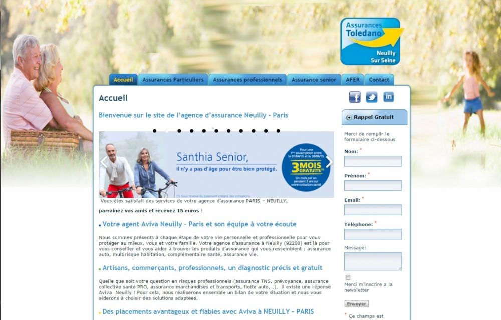 Toledano Assurances web design