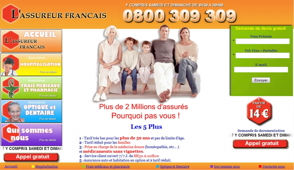 Assureur-francais web design