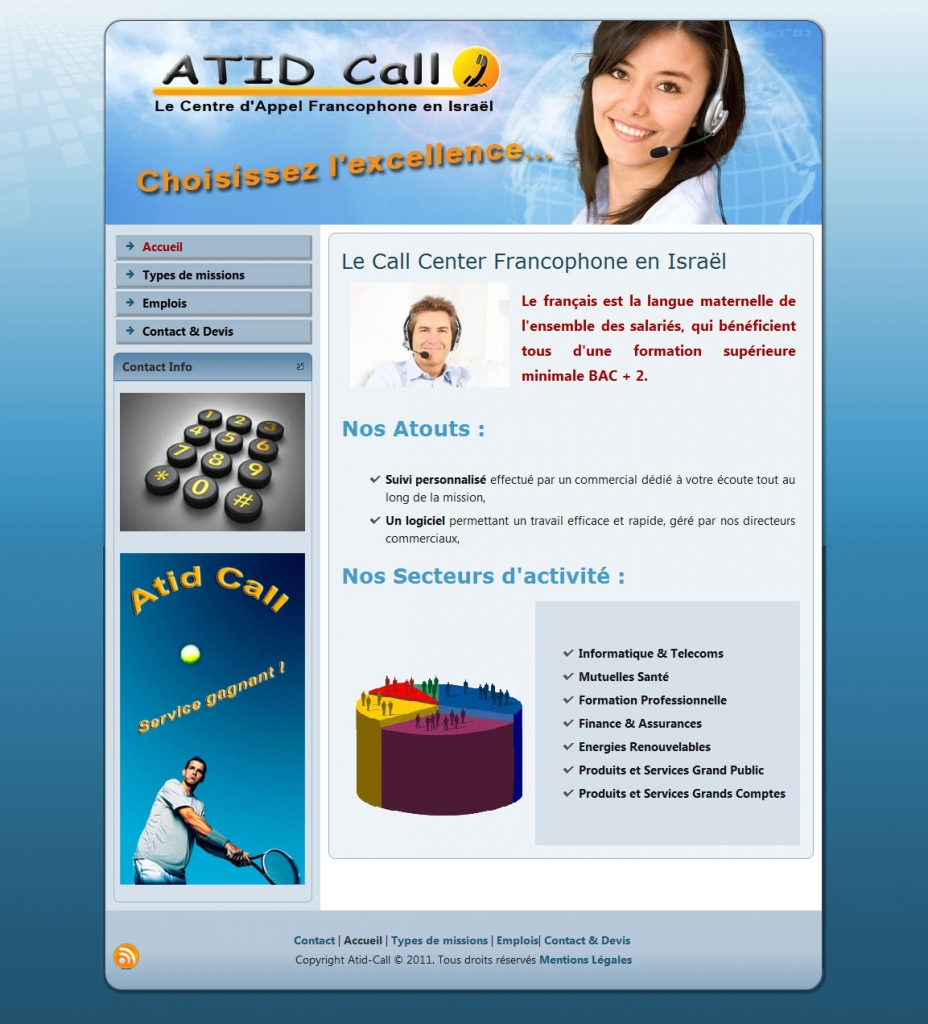 Atid call center web design