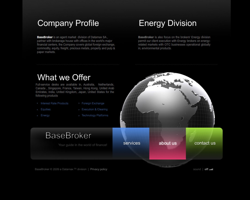 Base Broker web design