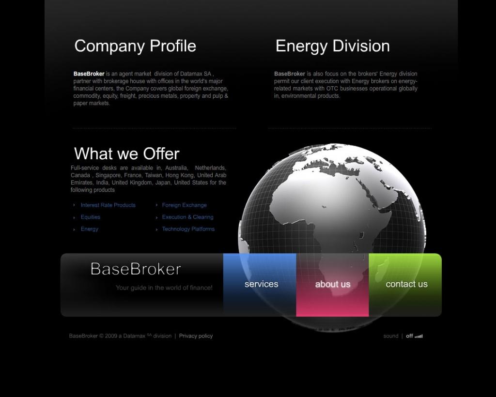 Base Broker web design