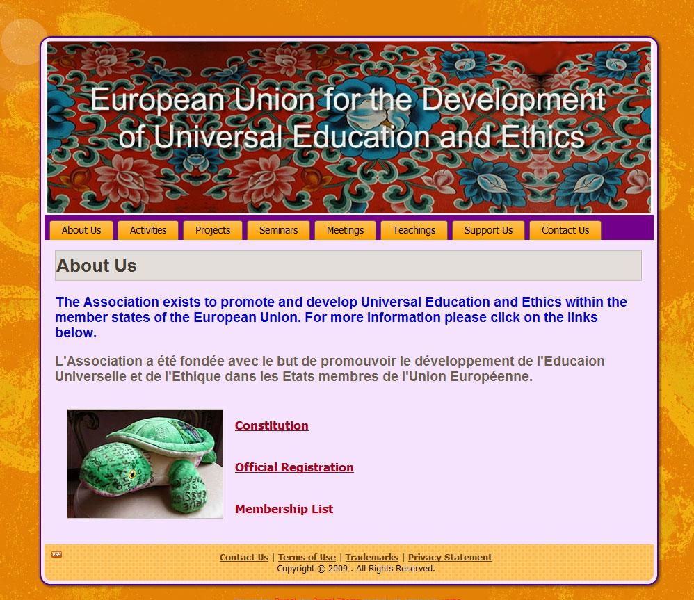 EU DUEE web design