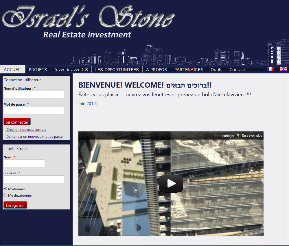 Israel Stone Real estate web development