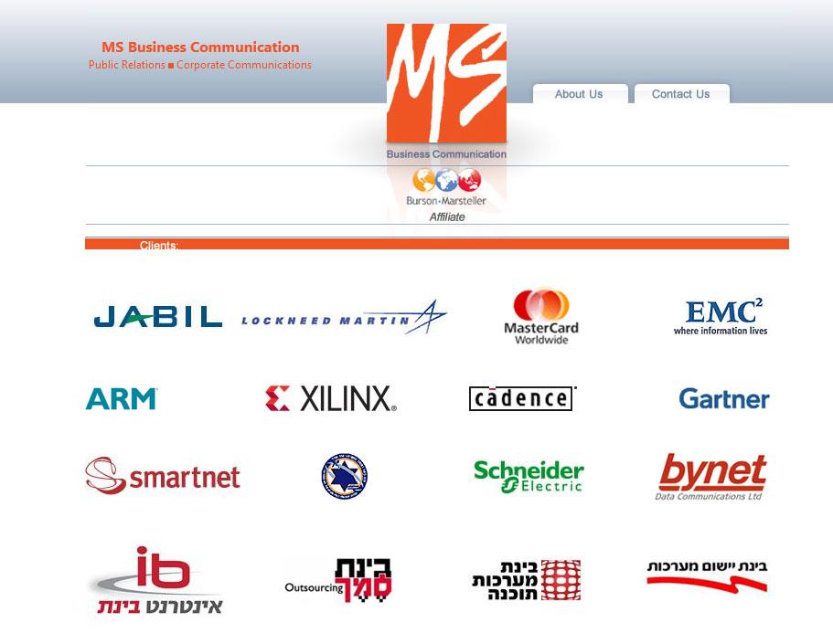 Ms Comunication web design