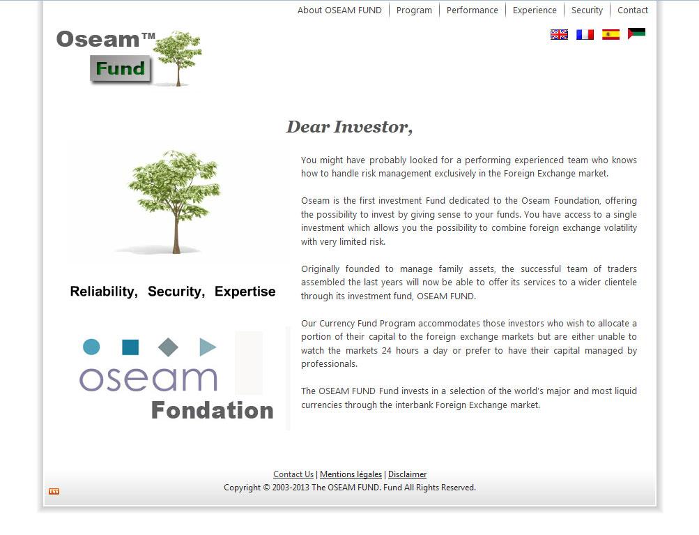 Oseam Fund web design