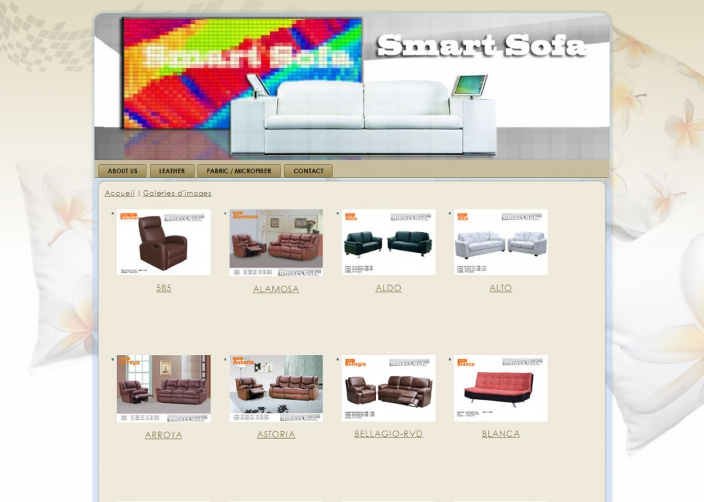 Smart Sofa Web design