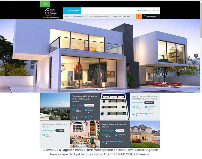 Site pour agent Immobilier