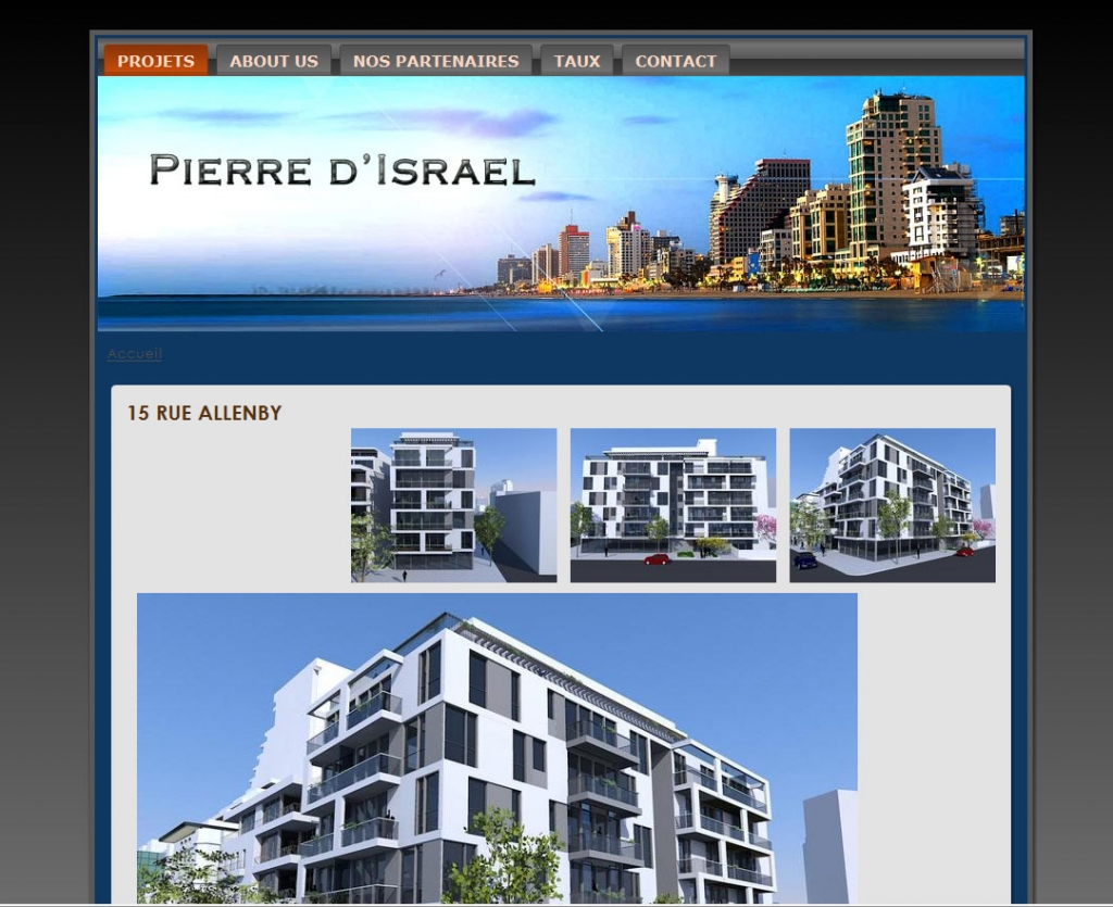 Ma pierre d'Israel Real Estate Web-design