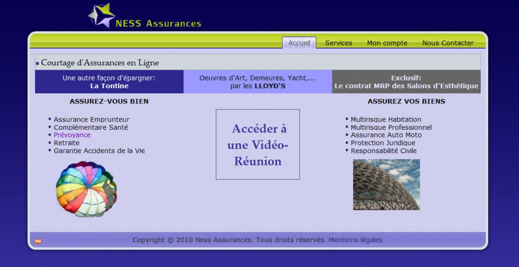 Ness assurances web development