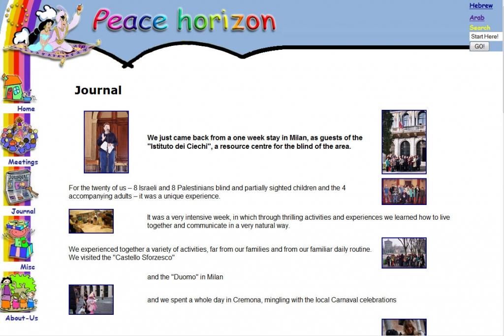 Ebu Peace web-design