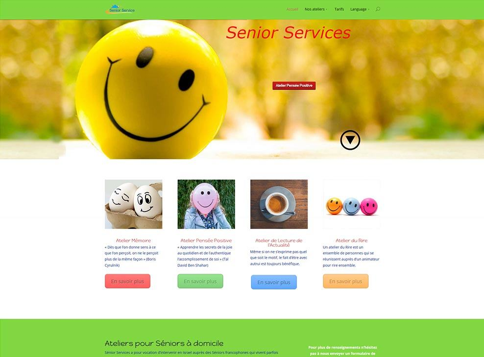 Senior services web design